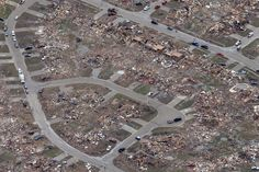 Only driveways left in some places after the May 2013 tornado in Moore, Oklahoma