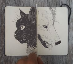 Black and White by (Cool Paintings Black And White) Sketchbook Inspiration, Art Sketchbook, Illustrations, Illustration Art, Animal Drawings, Art Drawings, Drawing Journal, Moleskine, Cool Paintings