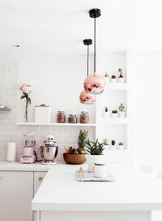Subtle Pink Kitchen