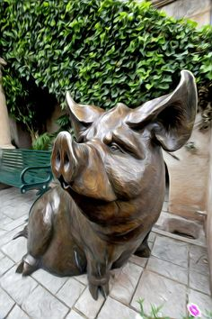 Fine Art America Outdoor Sculpture, Sculpture Art, Wood Pig, Pig Crafts, Monster Illustration, Pig Art, Wood Carving Art, Little Pigs, Art Dolls