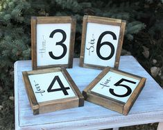 Family Number Handmade Sign /Custom Family Number/Brush Lettering Arrow Gallery Wall Art Wooden House Number Decor Rustic Distressed Design