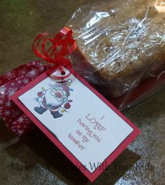 I LOAF Having You as My Teacher Christmas Gift Idea (free printable) with other options too - neighbor, co-worker