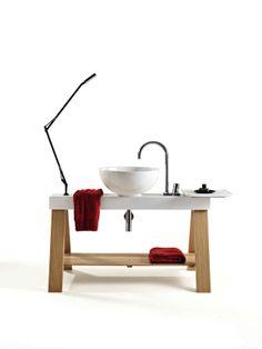 Il Cavalletto, design Meneghello Paoelli Associati. #design #washbasin #wood #lavabo #artceram