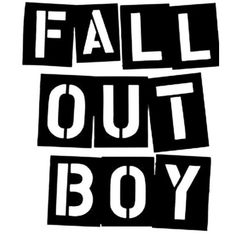 stencilry | fall out boy | fobletters ❤ liked on Polyvore