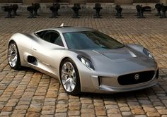 The Jaguar C-X75 touches 100 miles an hour in less than 6 seconds.