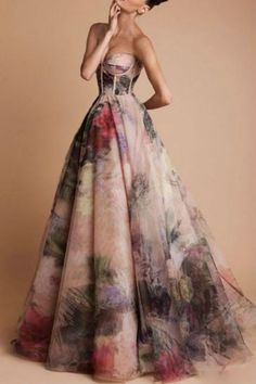 Non-Traditional Wedding Dress Ideas: Floral