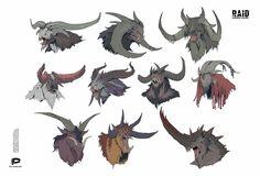 Alien Concept Art, Fantasy Concept Art, Creature Concept Art, Game Concept Art, Creature Design, Mythical Creatures Art, Forest Creatures, Curious Creatures, Fantasy Creatures