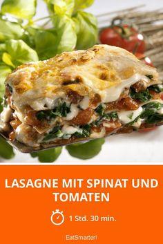 Lasagne mit Spinat und Tomaten - smarter - Zeit: 1 Std. 30 Min. | eatsmarter.de