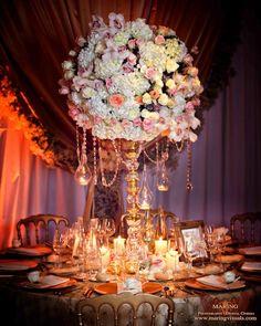David Tutera Weddings: Crystal garland can be found at www.allysonjames.net