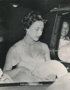 H.R.H.Princess Margaret in car