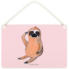 Deko Schild Faultier Vogel zeigen aus MDF  Weiß - Das Original von Mr. & Mrs. Panda.  Ein wunderschönes Schild aus der Manufaktur von Mr. & Mrs. Panda - die Schilder werden von uns direkt nach der Bestellung liebevoll bedruckt und mit einer wunderschönen Kordel zum Aufhängen versehen.    Über unser Motiv Faultier Vogel zeigen  Was gibt es bitte cooleres, als ein Faultier? Mr. & Mrs. Panda war daher klar: eine Faultier-Kollektion darf in ihrer Welt nicht fehlen! Et voila (Lächeln)…