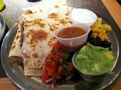 Quesadilla from Bueno y Sano. Amherst, MA. Memories of college...