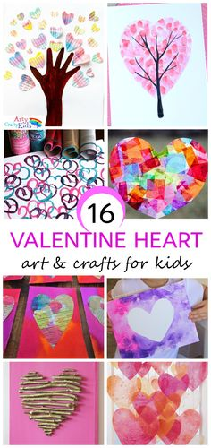 Arty Crafty Kids   Valentines   16 Kids Valentine Heart Craft Ideas   A gorgeous collection of creative Heart Art and Craft ideas to celebrate Valentine's with the kids.