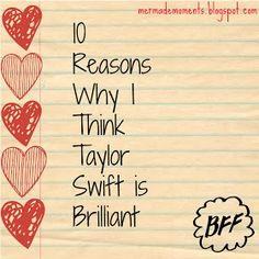 Mermade Moments: 10 Reasons Why I Think Taylor Swift is Brilliant