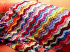 Ripple afghan idea - crochet
