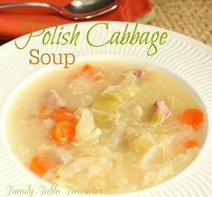 This traditional Polish Cabbage Soup recipe is a staple in our home during the cold winter months. Rich in vitamins and full of flavor! Do you remember the Cabbage Soup Diet fad from the Apparently you were suppose to just eat cabbage soup for a Polish Cabbage Soup Recipe, Cabbage Soup Recipes, Cabbage Soup Diet, Kapusta Recipe Polish, Cabbage Ideas, Broccoli Recipes, Polish Recipes, Polish Food, Polish Nails