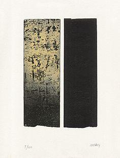 "Pierre Soulages (Born 1919 Rodez) ""Eau-forte XL"" Farbaquatintaradierung 1996 41 x 32.5 cm Pr. 27.5 x 18.8 cm"
