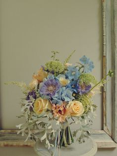 Delicate floral gathering with an exquisite colour palette. [Jo's Flowers]