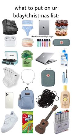 Christmas Gifts For Teen Girls, Tween Girl Gifts, Birthday Gifts For Teens, Birthday Wishlist, Birthday List, Schul Survival Kits, Bff, Travel Bag Essentials, Cool Gifts For Teens