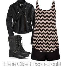 """""""Elena Gilbert inspired outfit/ The Vampire Diaries"""" by tvdsarahmichele on Polyvore"""
