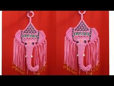 how to make macrame ganesha Macrame Owl, Macrame Knots, Macrame Jewelry, Crochet Motif, Crochet Hooks, Crochet Patterns, K Crafts, Sewing Crafts, Oil Painting Tips