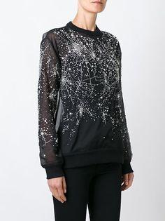 Givenchy sheer constellation pattern sweatshirt