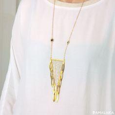 Collier long Boho en cascade – PAMALAKA - Créateur de bijoux boho chic