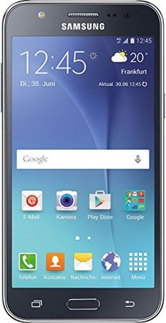 Samsung Galaxy J5 Smartphone (5 Zoll (12,7 cm) Touch-Display, 8 GB Speicher, Android 5.1) schwarz   Your #1 Source for Mobile Phones, MP3 Players & Accessories