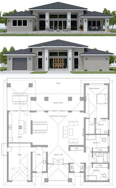 arquitectonico House Plan House Plan, Home Plan, Floor Plan, Architecture, House Layout Plans, Family House Plans, Dream House Plans, Small House Plans, House Layouts, House Floor Plans, House Floor Plan Design, Sims 4 Houses Layout, Single Floor House Design