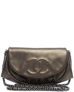 Spotted this Chanel Bronze Caviar Leather Half Moon Wallet on Chain on Rue La La. Shop (quickly!).