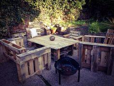 My pallet garden furniture.