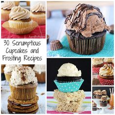 30 Scrumptious Cupcake and Frosting Recipes via Beyond Frosting