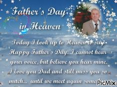 Father's Day in Heaven Fathers Day In Heaven, Still Miss You, Vote Sticker, Love Dad, Happy Day, Wedding Cakes, Wedding Gown Cakes, Cake Wedding, Wedding Cake