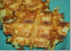 Was cookst Du heute: Kartoffelrösti aus dem Waffeleisen - vegetarisch