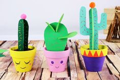 Paper cactus - Children's activities - 10 Fingers - Handmade Everything Activities For Kids, Crafts For Kids, Arts And Crafts, Paper Crafts, Letter C Preschool, Origami, Cactus Craft, Finger, Art Day