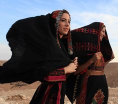 Palestinian Girls wearing their traditional clothes