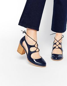 Buy ASOS SUNDOWN Heels at ASOS. Get the latest trends with ASOS now. Pretty Shoes, Beautiful Shoes, Cute Shoes, Women's Shoes, Me Too Shoes, Shoe Boots, Patent Shoes, Crazy Shoes, Mode Style