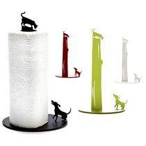 Artori Design Paper Towel Holder: Dog vs. Cat. Variety of Colors