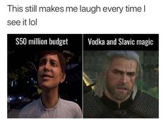 Detroit: Become Human vs. the Witcher 3 << Isn't that Sara Ryder from ME Andromeda? Video Game Memes, Video Games Funny, The Witcher 3, Witcher Monsters, Mass Effect Funny, Detroit Become Human, Gaming Memes, I Laughed, Funny Memes