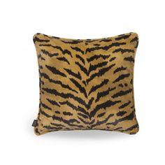 TIGRE Medium Velvet Cushion - Taupe