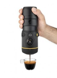 Handpresso auto espresso-maker: Delivers the perfect shot of coffee to a lay-by near you. Home And Kitchen, Gadgets, Kitchen gadgets, Car And GPS 4 Espresso Shot, Best Espresso, Espresso Maker, Coffee Maker, Italian Espresso, Gadgets And Gizmos, Cool Gadgets, Machine À Café Delonghi, Product Design