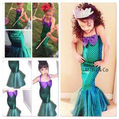 Meerjungfrau STAR kleine Meerjungfrau Kleid von MTBGBOUTIQUE