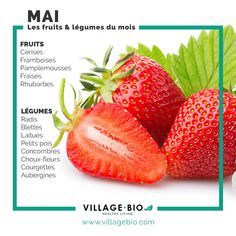 [ Les fruits et légumes du mois de Mai. The fruits and vegetables of the month of May. Holistic Nutrition, Nutrition Plans, Nutrition Information, Diet And Nutrition, Foods That Contain Calcium, Fruit And Vegetable Diet, Home Remedies For Hemorrhoids, Dark Chocolate Nutrition, Healthy Potatoes