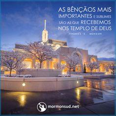 Quais bênçãos você já recebeu no Templo? Acesse: http://mormonsud.net