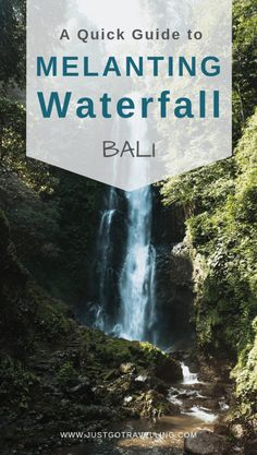 The Melanting Waterfall hike takes you down a few hundred steps to another popular waterfall in Bali. The bonus is you see other waterfalls on the way. Bali Waterfalls, Famous Waterfalls, Munduk Bali, Waterfall Trail, Honeymoon Island, Gili Trawangan, Gili Island, It's Going Down, Day Hike