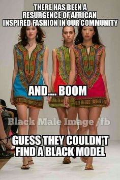 No I think the point for this was to show that everybody can wear it and it's not just for black girls, notice there is an Asian, white girl and the third girl seems Portuguese or Latino so it is basically spreading he African culture.