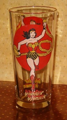 Vintage Wonder Women Glass