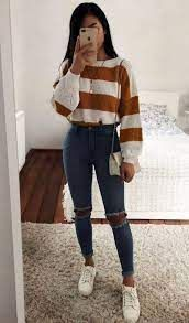 casual winter outfits - Google Search Trendy Fall Outfits, Casual School Outfits, Cute Comfy Outfits, Casual Winter Outfits, Winter Fashion Outfits, Retro Outfits, Look Fashion, Stylish Outfits, Cute Outfits For Teens