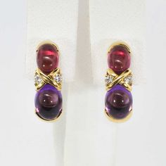 1aa5c3a89 Estate Tiffany & Co. Paloma Picasso Amethyst Tourmaline Diamond Earrings  18k | Antique &