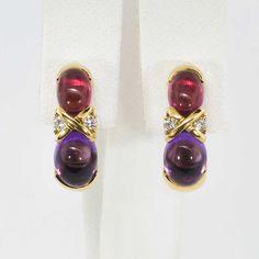 4033b5262 Estate Tiffany & Co. Paloma Picasso Amethyst Tourmaline Diamond Earrings  18k | Antique &